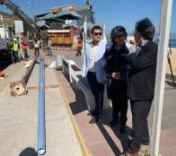 Mejoran iluminación de playa Reñaca con nuevos postes de gran tecnología
