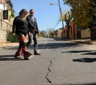 Alcaldesa Virginia Reginato valora inicio de obras en  Recreo para una mejor  conectividad