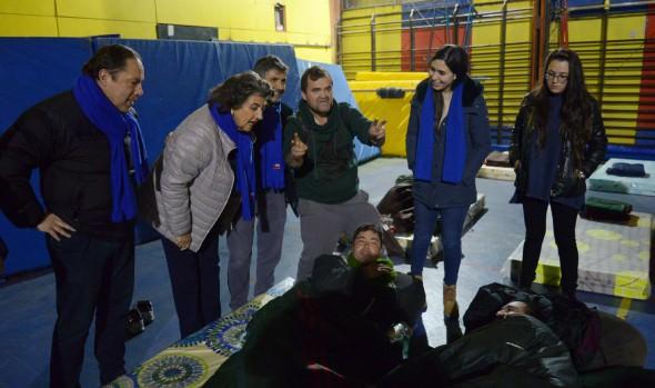 Refugio Código Azul se habilitó en gimnasio del Liceo Bicentenario de Viña del Mar