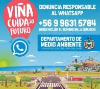 Municipio de Viña del Mar implementa whatsapp para denunciar ilícitos medioambientales