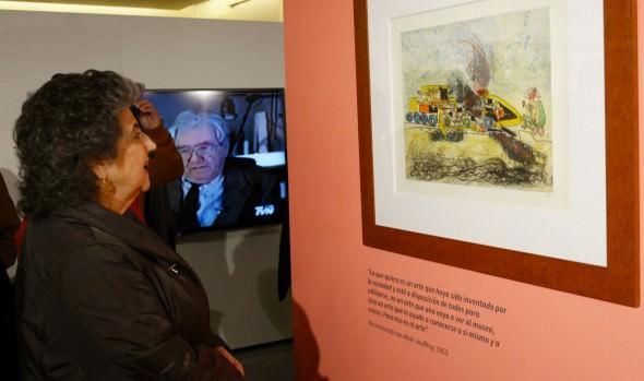 """Exposición """"Matta inédito"""" en el museo Palacio Rioja, inauguró alcaldesa Virginia Reginato"""