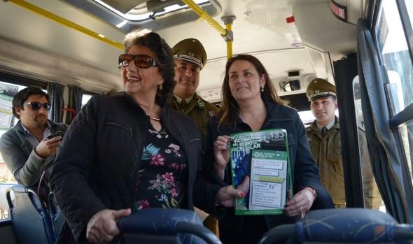 Con Carabineros en interior de buses, en Viña del Mar refuerzan seguridad de pasajeros