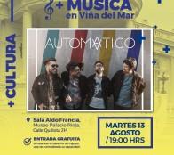 Municipalidad de Viña del Mar invita a concierto de Art Pop del grupo Automático