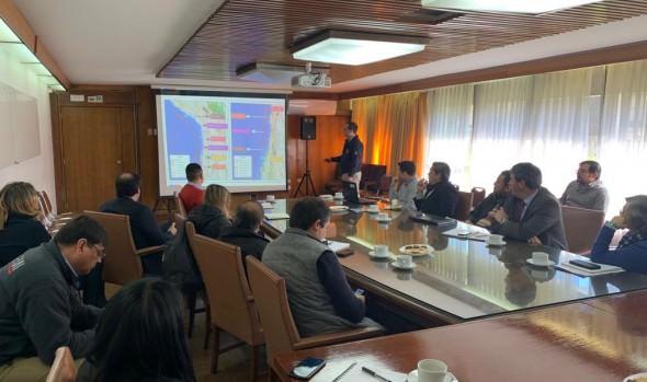 Municipio de Viña del Mar y ONEMI regional coordinan acciones para simulacro de tsunami
