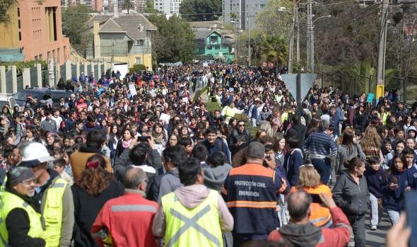 Más de 70 mil personas evacuaron en Viña del Mar durante simulacro de tsunami