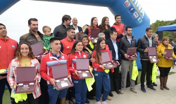 Medallistas panamericanos y promesas deportivas de la región fueron reconocidas por sus logros y méritos