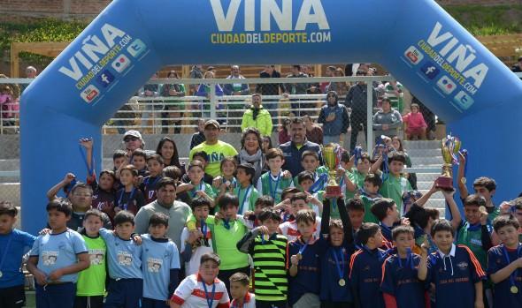 Escuela de fútbol municipal del Estadio Español ganó liga formativa Viña Ciudad del Deporte
