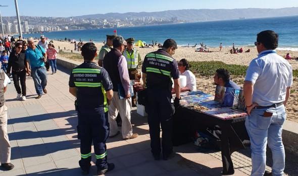 Municipio de Viña del Mar intensificó operativos contra comercio ilegal durante días de Fiestas Patrias