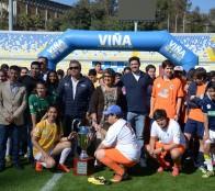 En Estadio Sausalito de Viña del Mar se realizó primer campeonato interescolar de fútbol inclusivo