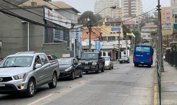 Municipio de Viña del Mar implementará desvíos de tránsito en subida Traslaviña por mejoramiento de colector de aguas lluvias