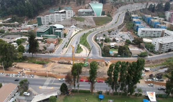 Construcción de puentes sobre estero de Reñaca avanza dentro de plazos programados