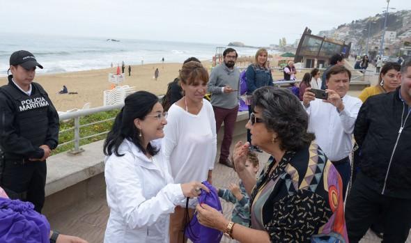 En Viña del Mar difunden medidas de autocuidado ante la exposición excesiva a la radiación ultravioleta