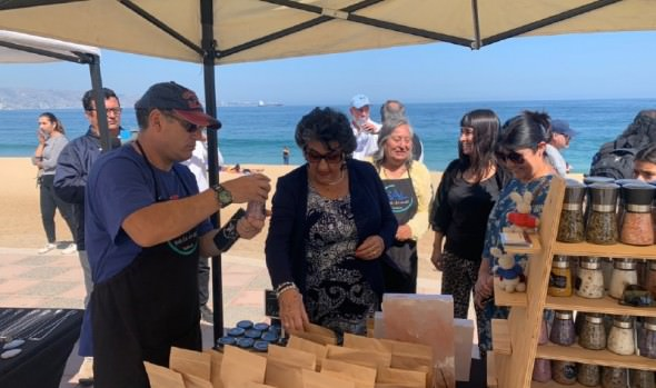 """Emprendedores locales son apoyadas por candidatos """"Reyes para Viña"""""""