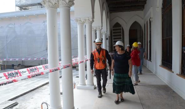Restauración del Palacio Vergara presenta cerca de un 80% de avance