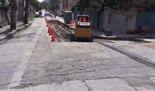 Municipio de Viña del Mar ejecuta obras de mejoramiento en calle Von Schroeders