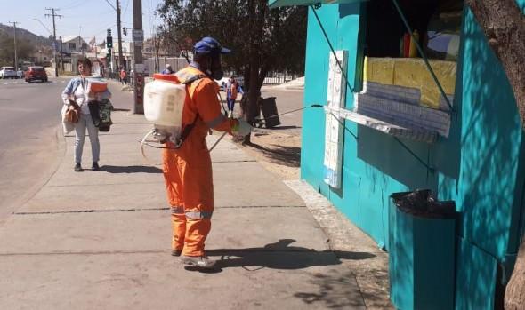 Municipio de Viña del Mar refuerza labores de sanitización en la ciudad
