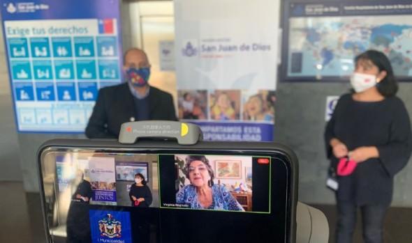 Municipio de Viña del Mar dona mascarillas a Sanatorio Marítimo elaboradas por Fomento Productivo