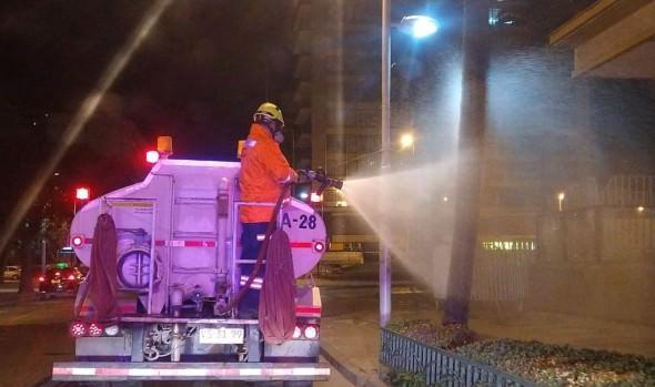 Más de 700 kilómetros de vías han sido sanitizadas en Viña del Mar