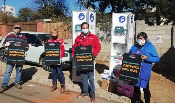 5 ferias libres de Viña del Mar recibieron kit de sanitización para mejorar condiciones de seguridad