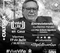 Municipio de Viña invita a entrevista virtual con el escritor Guillermo Parvex