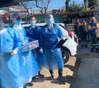 Realizan examen de PCR a trabajadores de aseo de la Municipalidad de Viña del Mar