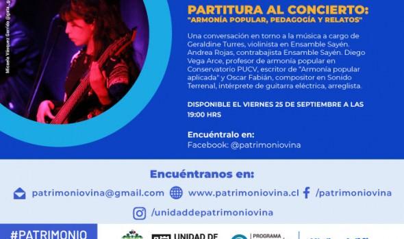 """Conversatorio de la Unidad de Patrimonio invita a conocer """"De la partitura al concierto"""", cómo una idea se convierte en una pieza musical"""