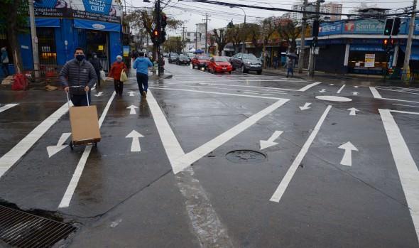 Municipio de Viña del Mar implementa primeros cruces peatonales estilo Tokio de la región