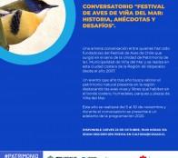 La historia, las anécdotas y los desafíos del Festival de Aves de Viña del Mar tratará conversatorio