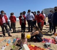 En Viña del Mar se presenta proyecto piloto modo Covid para playas seguras