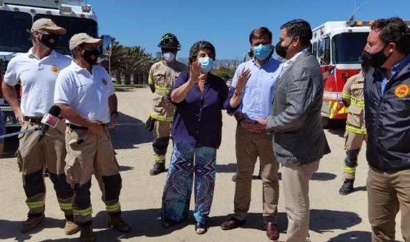Bomberos de Viña del Mar se hará cargo de estacionamientos del borde costero durante el verano