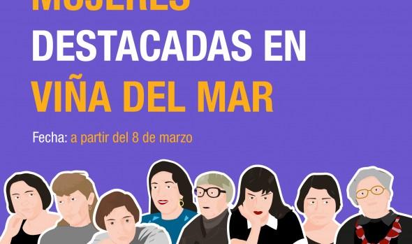Viña del Mar destaca relevancia de la mujer en distintos ámbitos con láminas, charlas y podcasts