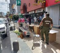 Municipio de Viña del Mar y Carabineros intensifican operativos de fiscalización al comercio ilegal