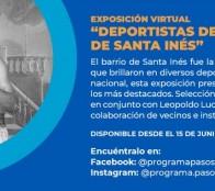Vecinos del barrio Santa Inés presentan exposición digital que destaca a antiguos deportistas de este sector