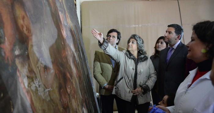 Alcaldesa Virginia Reginato, pintura museo B Artes