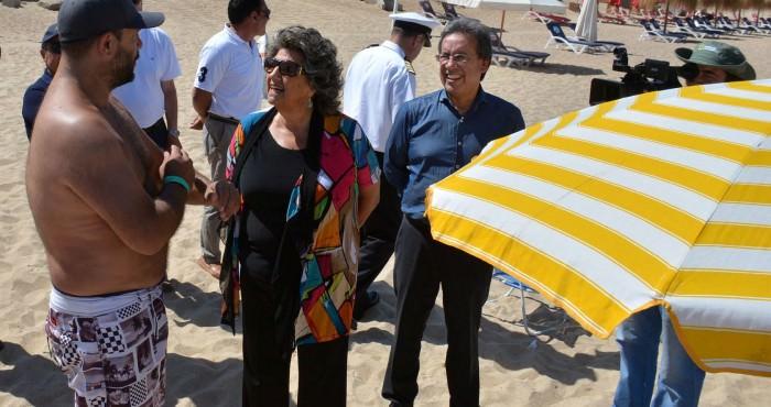Alcaldesa Virginia Reginato, inspección playas