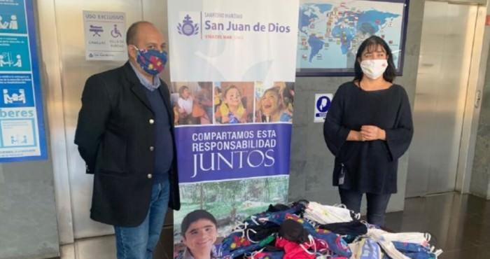 Donación mascarillas a Sanatorio Marítimo