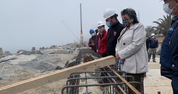 Inspección obras de reforzamiento  Av. Perú